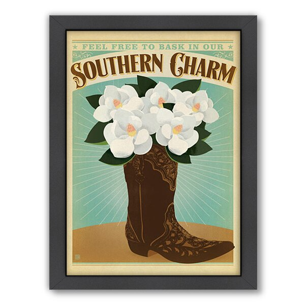 Southern Charm Boot Framed Vintage Advertisement by East Urban Home
