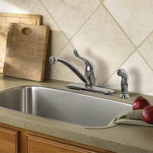 Adler Single handle Kitchen Faucet with Duralock™ by Moen