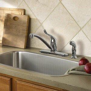 Adler Single handle Kitchen Faucet with Duralock™ by Moen
