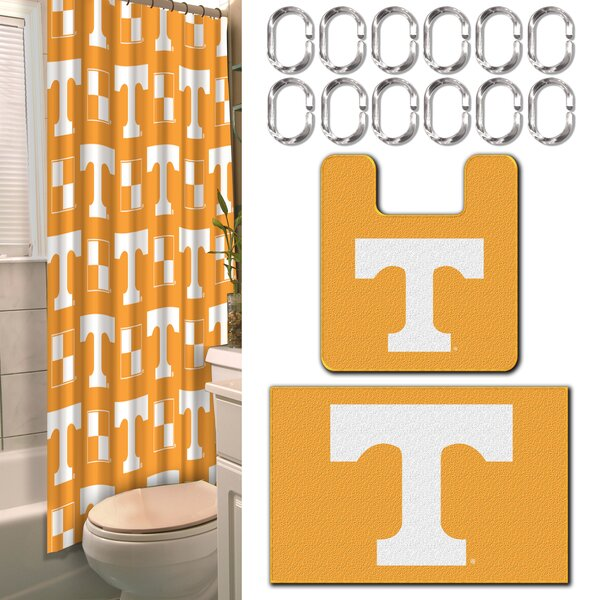 NCAA 15 Piece Shower Curtain Set by Northwest Co.