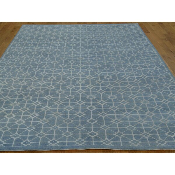 One-of-a-Kind Belmont Denim Handwoven Blue Wool/Silk Area Rug by Isabelline