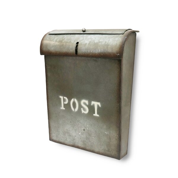 Emily Industrial Style Post Wall Mounted Mailbox by NACH