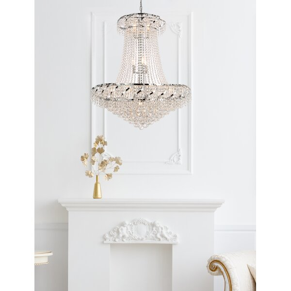 Antione 18 - Light Unique / Statement Empire Chandelier with Crystal Accents by Rosdorf Park Rosdorf Park