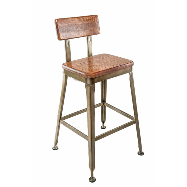 Dicken Industrial Bar Stool by Williston Forge