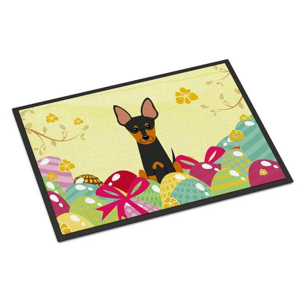 Saroyan English Toy Terrier 27 in. x 18 in. Non-Slip Outdoor Door Mat
