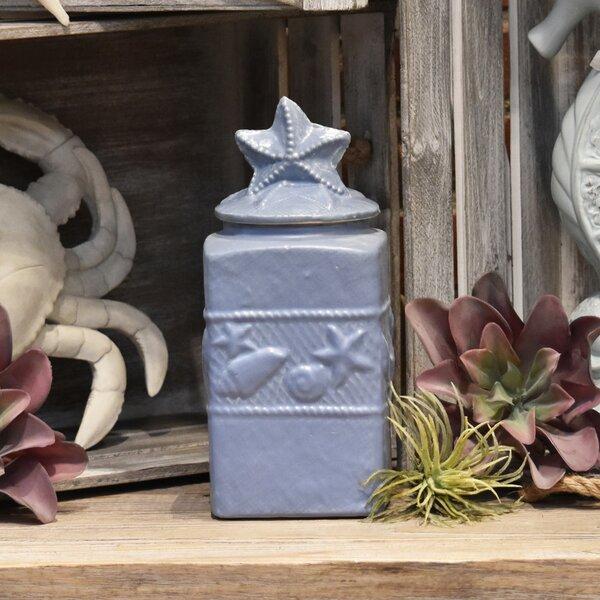 Square Storage Jar by Highland Dunes