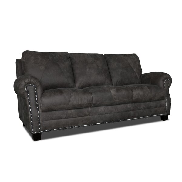 Moree Leather Sofa By Canora Grey
