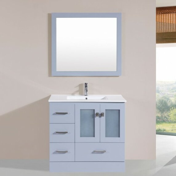 Lapoint Modern 35 Single Bathroom Vanity Set with Mirror by Latitude Run
