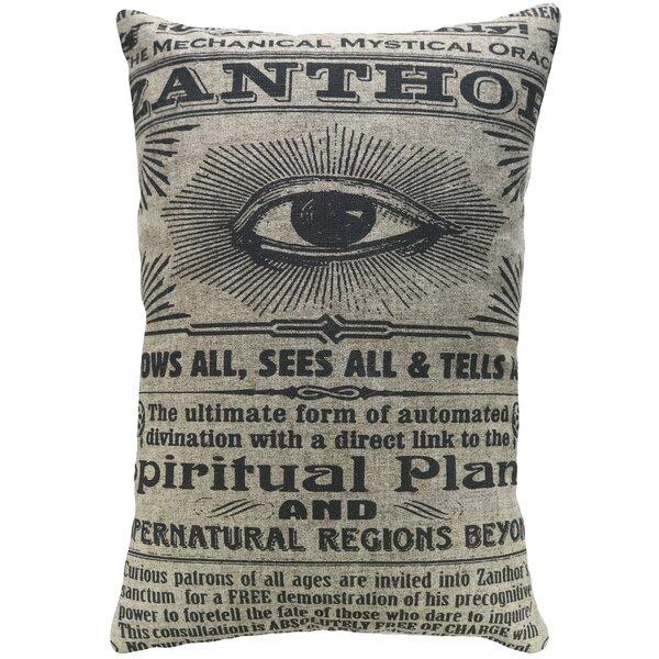 Crofts Spiritual Plane Linen Throw Pillow by Williston Forge
