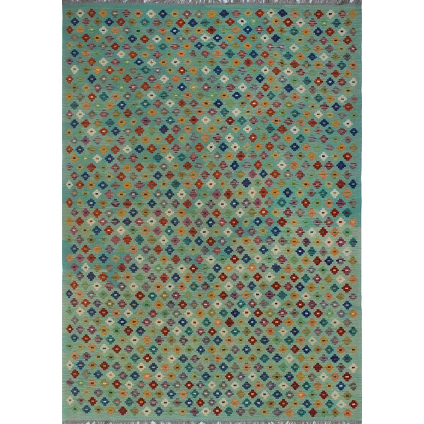 One-of-a-Kind Renita Kilim Hand-woven Wool Blue Area Rug by Isabelline