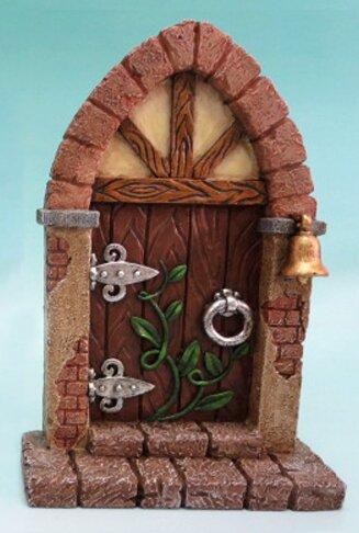 Fairy Mini Garden Door with Bell and Vines by Hi-Line Gift Ltd.