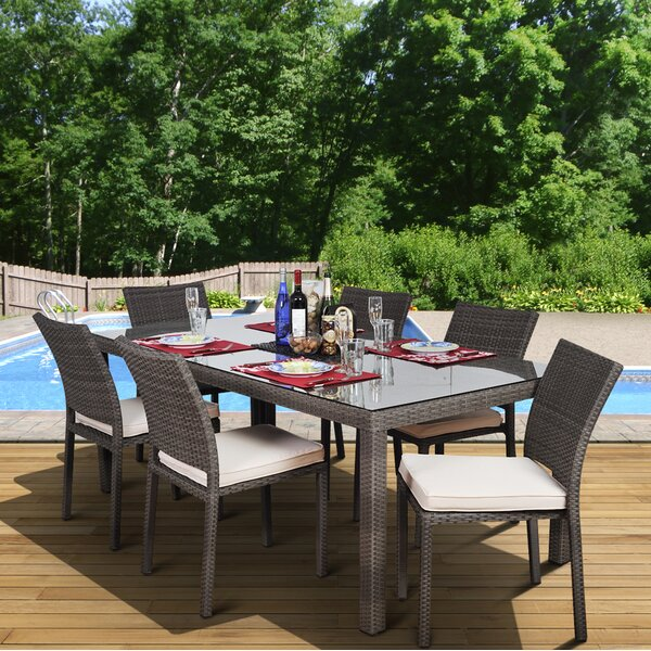 Finola 7 Piece Dining Set with Cushions by Beachcrest Home