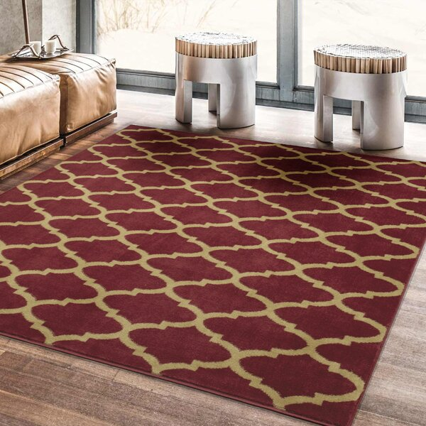 Steadham Red Area Rug by Charlton Home