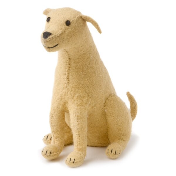Lab Hand Felted Wool Door Stop by Arcadia Home