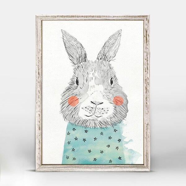 Latoya Cheerful Bunny Portrait Mini Framed Canvas Art by Harriet Bee