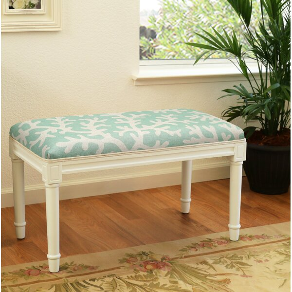 Dehner Coral Wood Bench by Highland Dunes