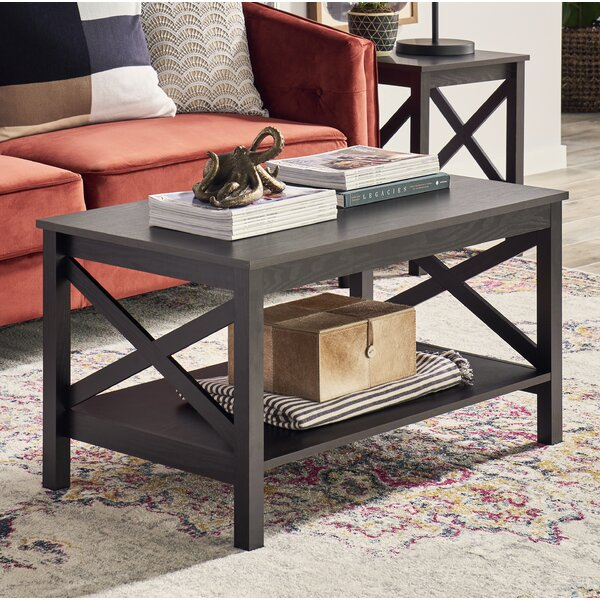 X-Frame Two-Tier Coffee Table with Storage by ClosetMaid ClosetMaid