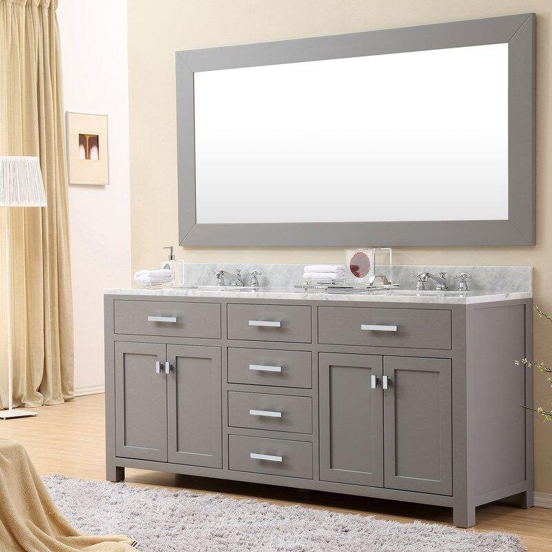 Wayfair Bathroom Vanity >> Andover Mills Raven Double Bathroom Vanity Reviews Wayfair