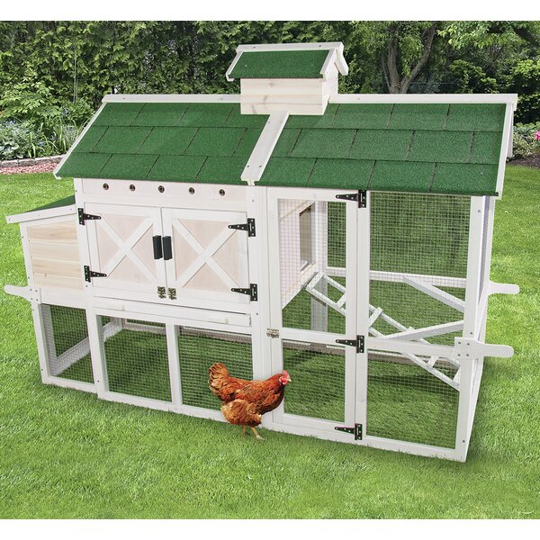 Premium Chicken Coop with Roosting Bar by Ware Man