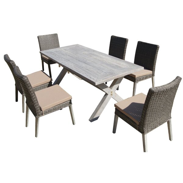 Hebron 7 Piece Dining Set with Cushion by Laurel Foundry Modern Farmhouse