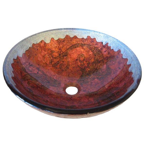 Carpione Glass Circular Vessel Bathroom Sink by Novatto