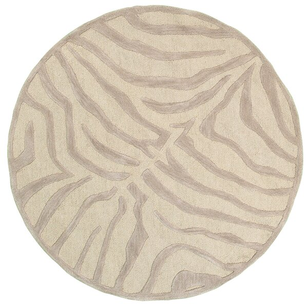 Fashion Taupe/Sliver Zebra Area Rug by LR Resources