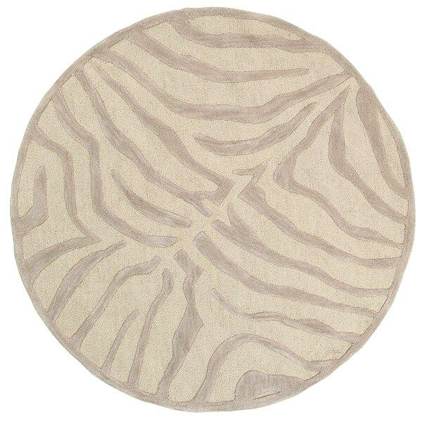 Fashion Taupe/Sliver Zebra Area Rug by LR Resources