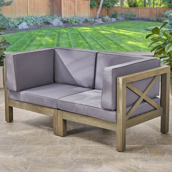 Ellison Loveseat with Cushions by Highland Dunes