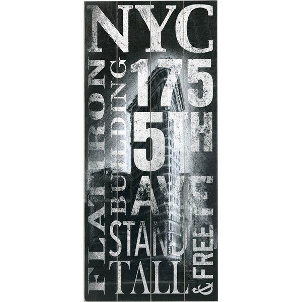 NYC Flatiron Vintage Advertisement Multi-Piece Image on Wood by Artehouse LLC