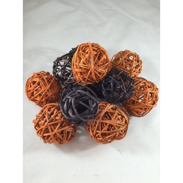 Spheres Halloween Rattan Ball by Gracie Oaks