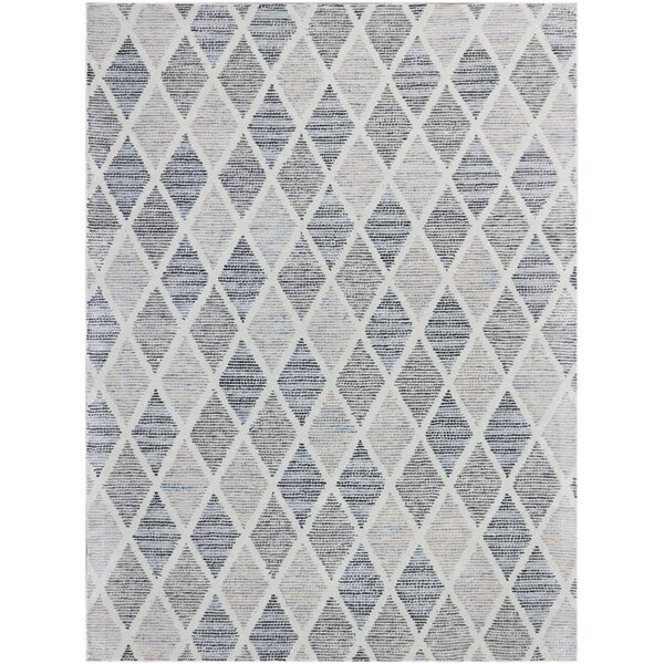 Callista Hand-Woven Wool Gray Area Rug by Beachcrest Home