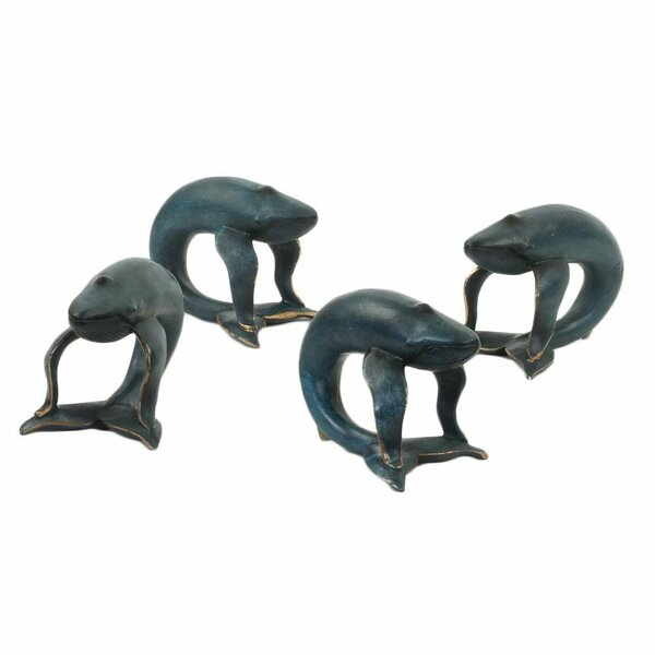 Whale Napkin Ring (Set of 4) by Longshore Tides