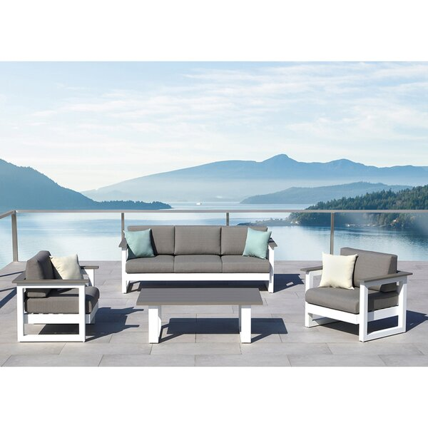 Lucas 4 Piece Conversation Set with Cushions by Ove Decors
