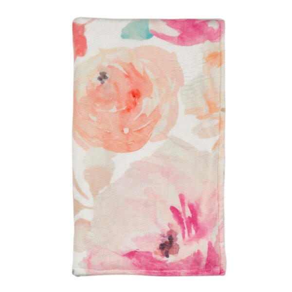 Carleton-Smith Garden Floral Plush Throw by Latitude Run