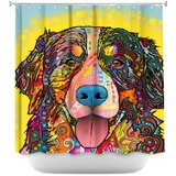 Bernese Mountain Dog Single Shower Curtain by DiaNoche Designs