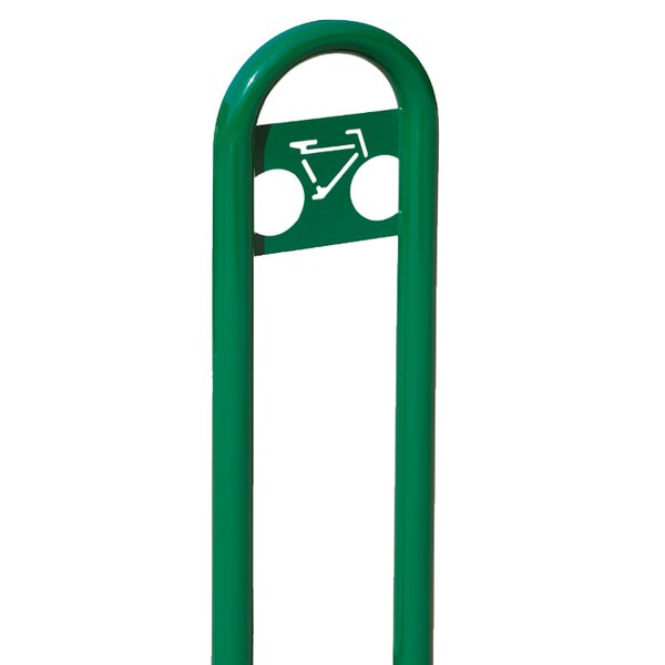 Traditional 2 Bike Marquee Post Freestanding Bike Rack by Anova