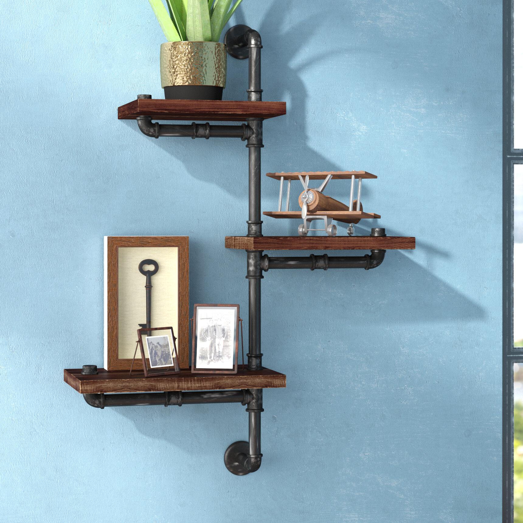 Trent Austin Design 3 Shelves Wood Floating Wall Shelf & Reviews ...