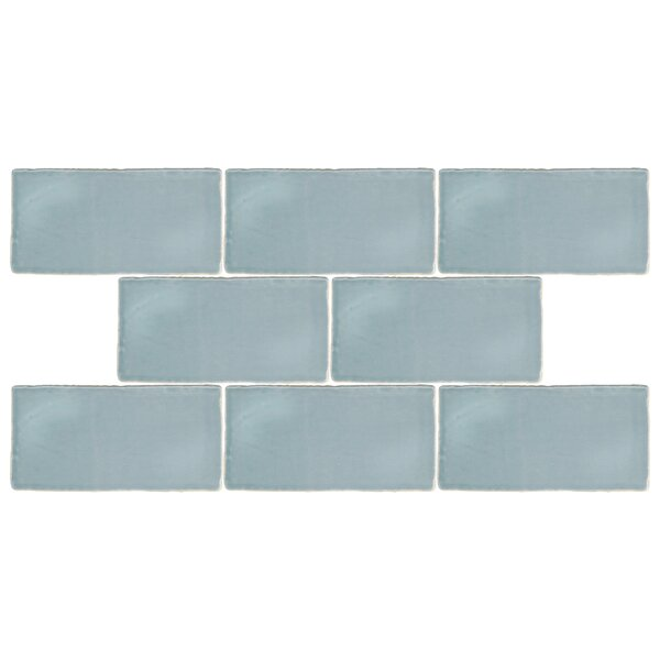 Tivoli 3 x 6 Ceramic Subway Tile in Aqua Blue by E