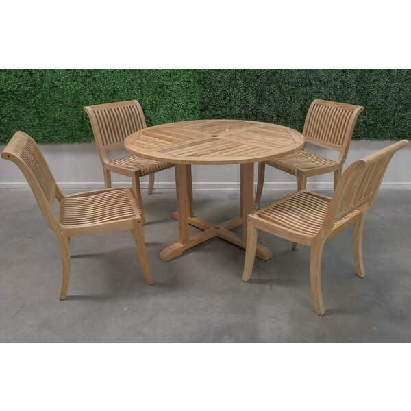 5 Piece Teak Dining Set by HiTeak Furniture
