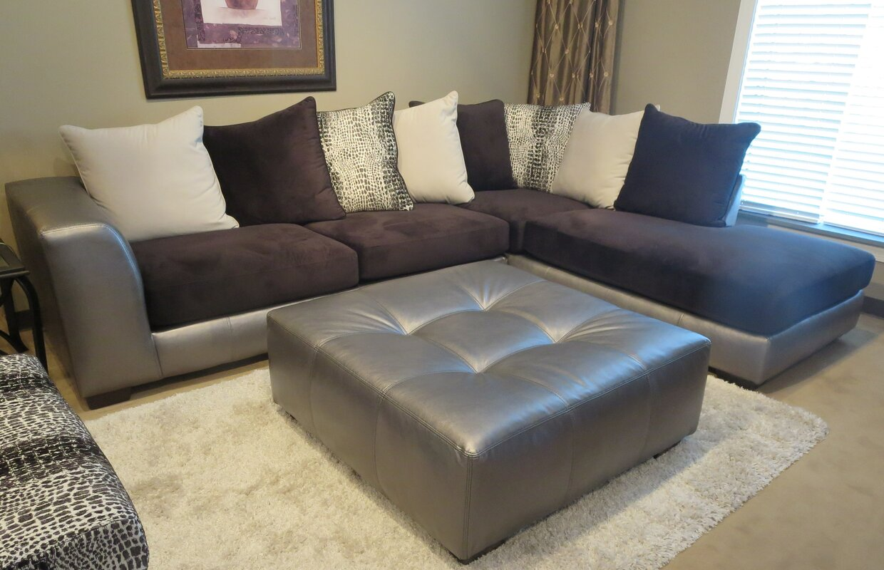 Fashion Shimmer Sectional By Roundhill Furniture Shop