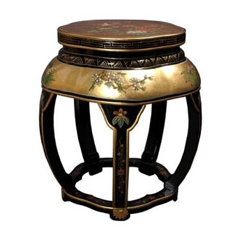 Camille Lacquer Blossom Stool by World Menagerie