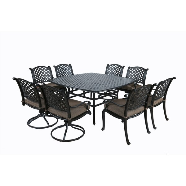 Kempf 9 Piece Dining Set with Cushions by Darby Home Co