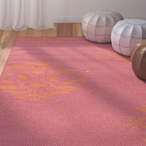 Dominik Hand-Woven Pink Area Rug by Bungalow Rose