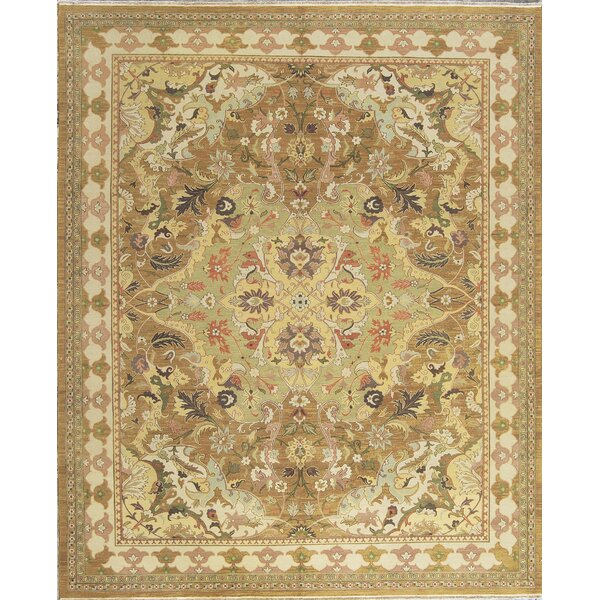 One-of-a-Kind India Hand-Knotted Wool Gold/Beige Area Rug by Bokara Rug Co., Inc.