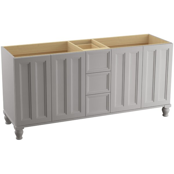 Damask™ 72 Vanity with Furniture Legs, 4 Doors and 3 Drawers, Split Top Drawer by Kohler