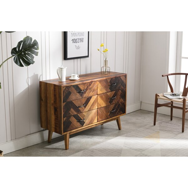 Murguia 6 Drawer Double Dresser by Union Rustic