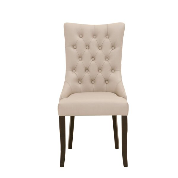 Clanton Button Tufted Upholstered Dining Chair (Set of 2) by Charlton Home