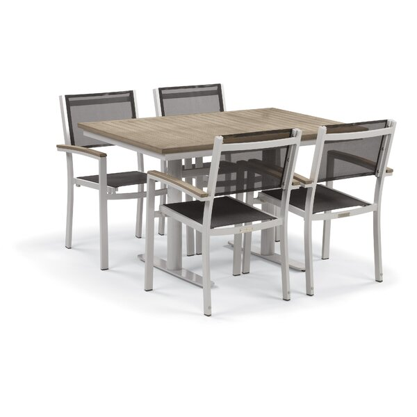 Farmington 5 Piece Teak Dining Set by Latitude Run