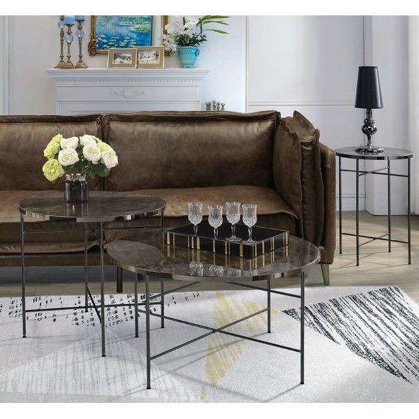 Lazzaro 3 Piece Coffee Table Set By Orren Ellis