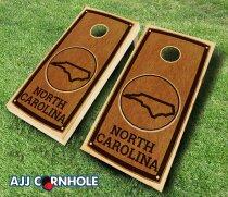North Carolina Stained 10 Piece Cornhole Set by AJJ Cornhole